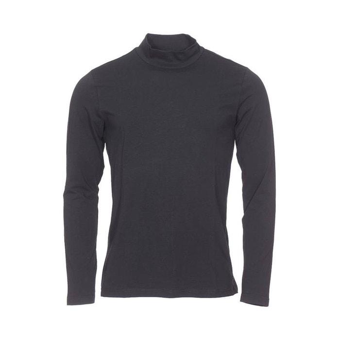 da2ec86859 Tee-shirt col montant manches longues en coton stretch noir Pierre Cardin    La Redoute