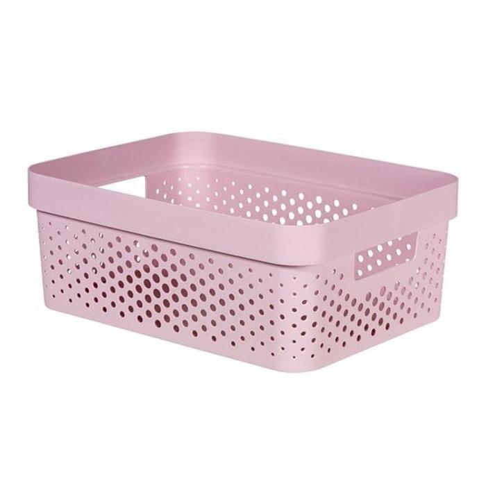 Bo te de rangement curver infinity dots 11 l rose curver for Boite a couture la redoute