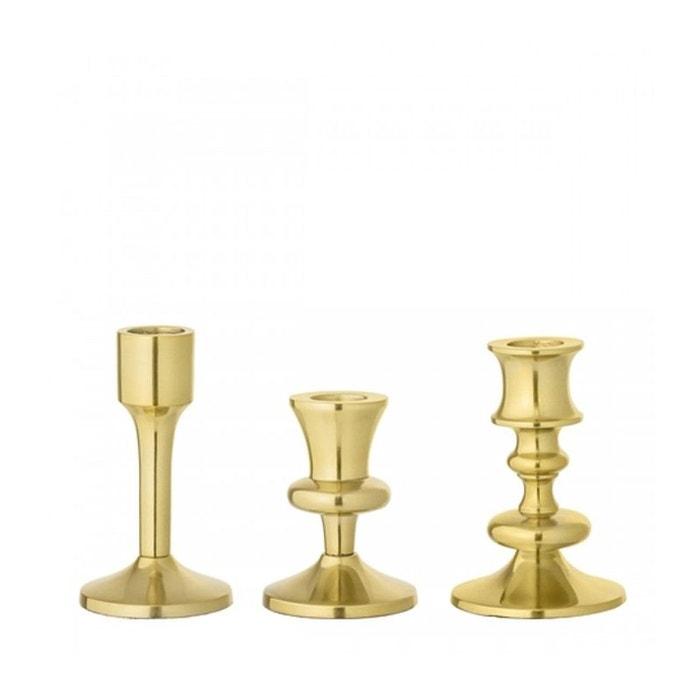 set de 3 chandeliers de table dor s en m tal dor wadiga. Black Bedroom Furniture Sets. Home Design Ideas