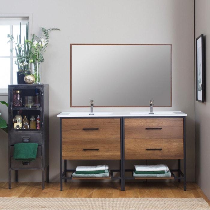 Meuble salle de bain industriel 4 tiroirs, 2 vasques - grand modèle |  MG14MEUB