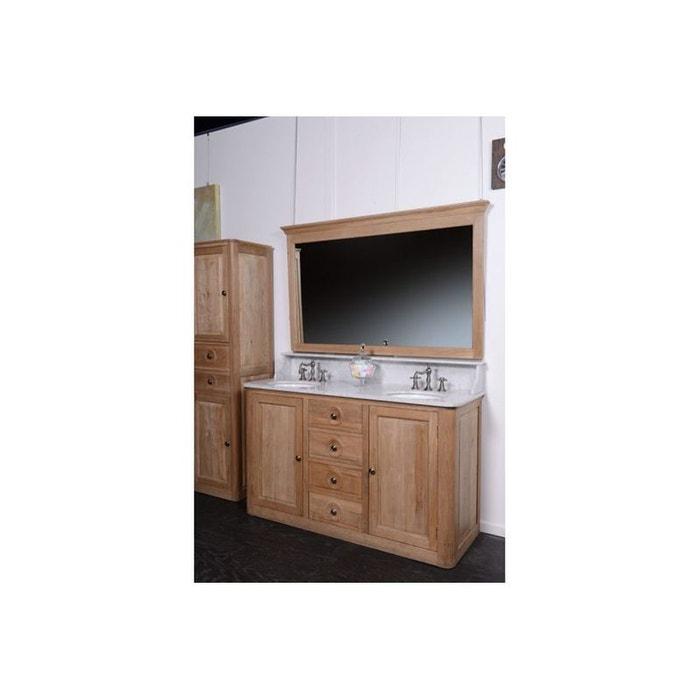 meuble de sdb double vasque en ch ne louis bois fonc hellin depuis 1862 la redoute. Black Bedroom Furniture Sets. Home Design Ideas