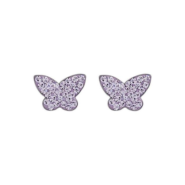 De La France Pas Cher En Ligne Boucles d'oreilles femme papillon strass violet argent 925 couleur unique So Chic Bijoux | La Redoute Boutique Pour Vendre Voir En Ligne À Vendre Livraison Gratuite l42Av
