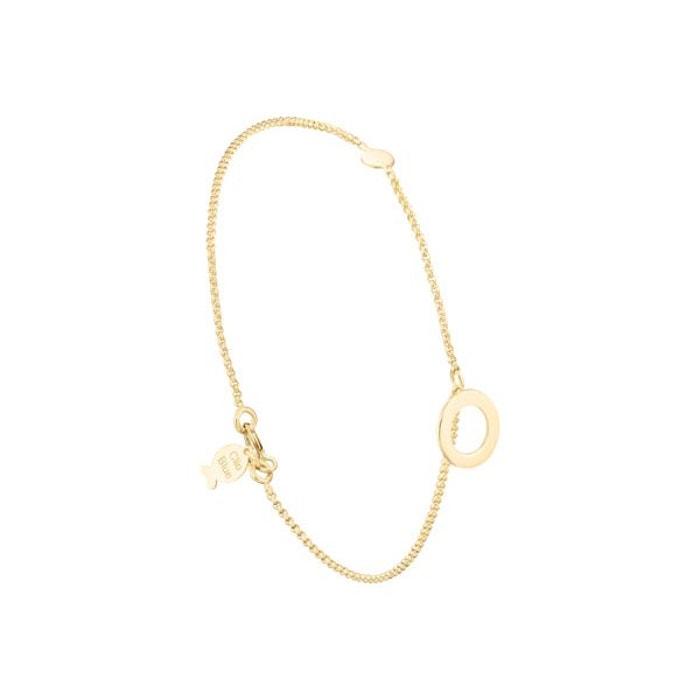 Bracelet chaîne cercle clio blue or jaune 18k, 1.4g or Clio Blue   La Redoute