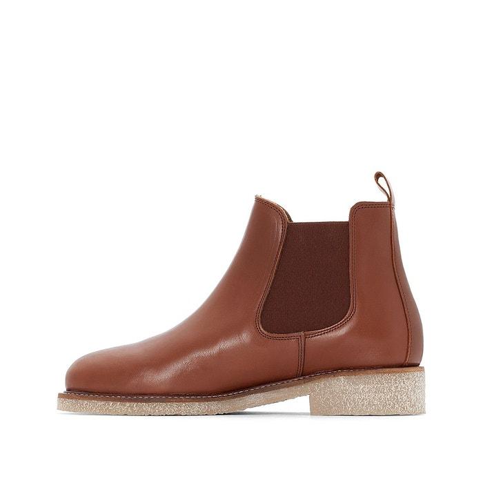 Boots crepe cognac Bensimon