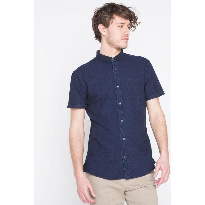 chemise homme unie poche plaqu e bleu night bonobo la redoute. Black Bedroom Furniture Sets. Home Design Ideas