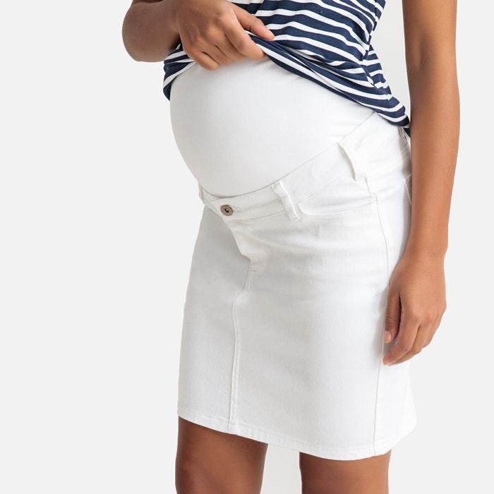 b85f64d17 Falda para embarazo vaquera de corte recto La Redoute Maternité