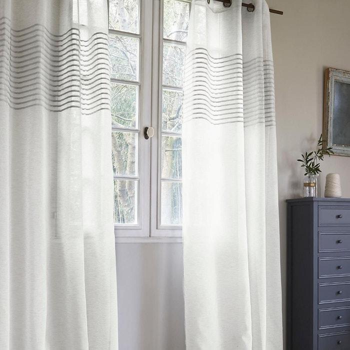 voilage avec fines rayures horizontales home maison la. Black Bedroom Furniture Sets. Home Design Ideas