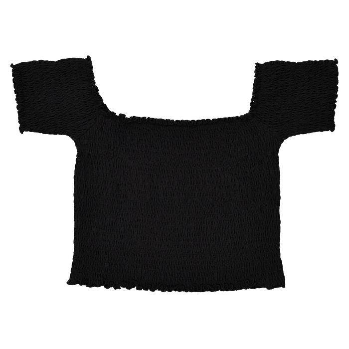 T-shirt corta con punto smocks 10-16 anni  La Redoute Collections image 0