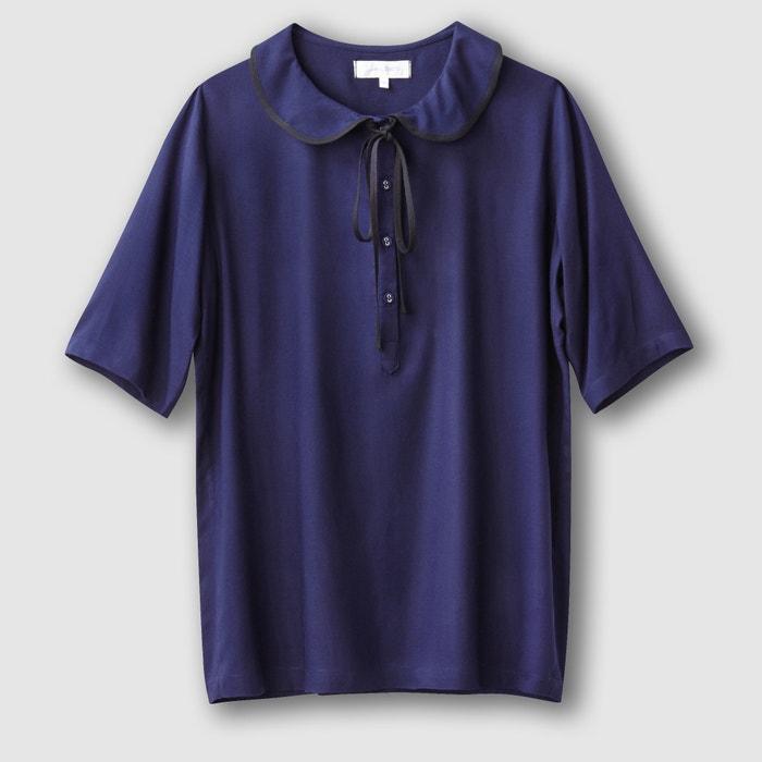 Блузка с отложным воротником с доставкой