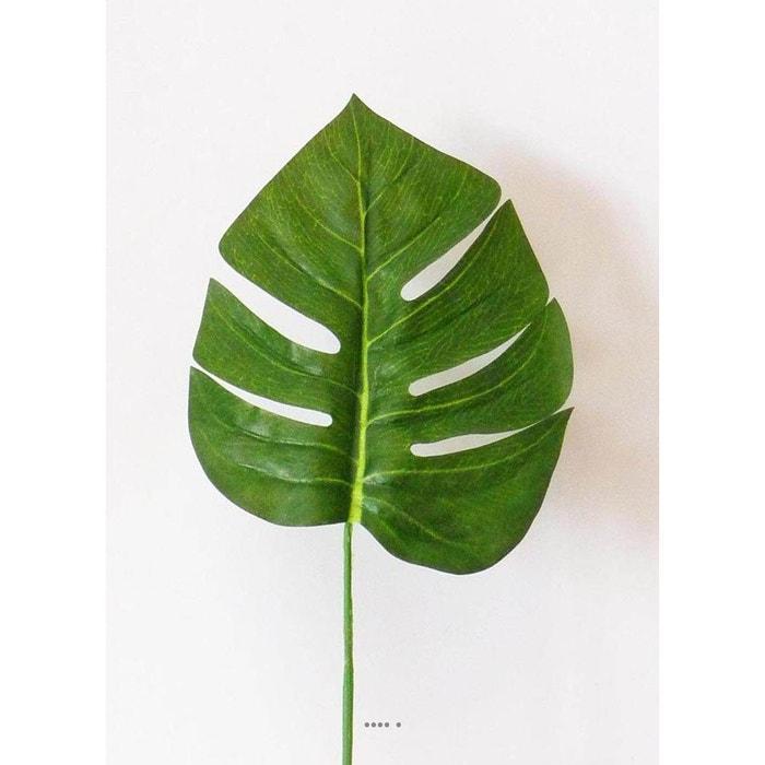 Feuille de Philodendron H 42 cm Tissu enduit pour exterieur D 15 cm ARTIFICIELLES