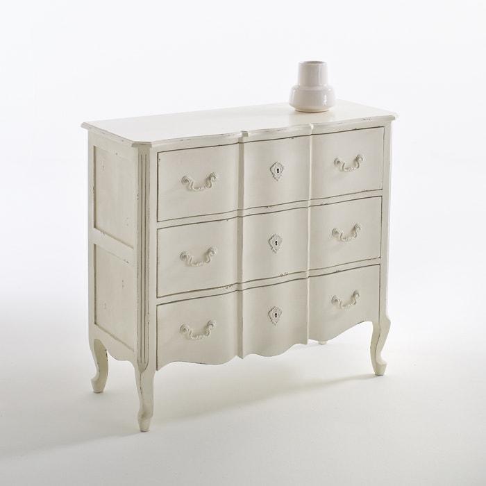 commode 3 tiroirs trianon blanc vieilli la redoute interieurs la redoute. Black Bedroom Furniture Sets. Home Design Ideas