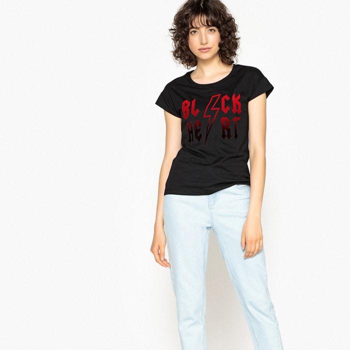 Redoute y motivo La manga Collections flocado Camiseta corta cuello con redondo qH8CzHd