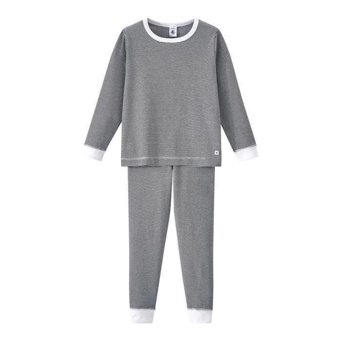 pyjama gar on ray milleraies bleu petit bateau la redoute. Black Bedroom Furniture Sets. Home Design Ideas