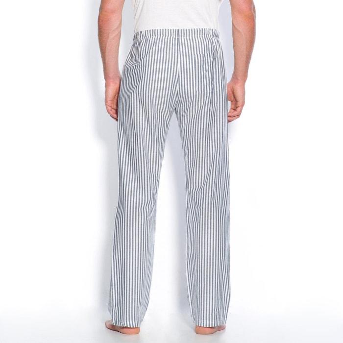 pantalon d int rieur popeline ray e coton ray bleu la redoute collections la redoute. Black Bedroom Furniture Sets. Home Design Ideas