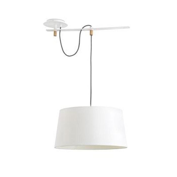 suspension fusta blanc 1x e27 20w faro 28394 blanc faro la redoute. Black Bedroom Furniture Sets. Home Design Ideas