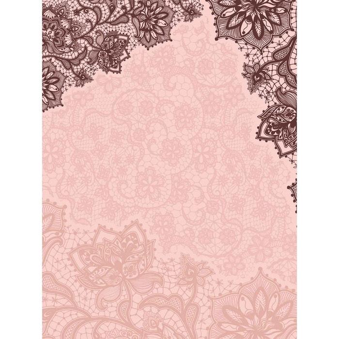 papier peint double l dentelle rose p le lgd01 la redoute. Black Bedroom Furniture Sets. Home Design Ideas