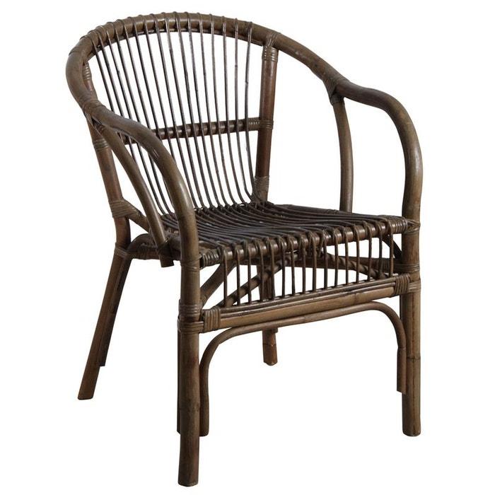 fauteuil en rotin gris naturel aubry gaspard la redoute. Black Bedroom Furniture Sets. Home Design Ideas