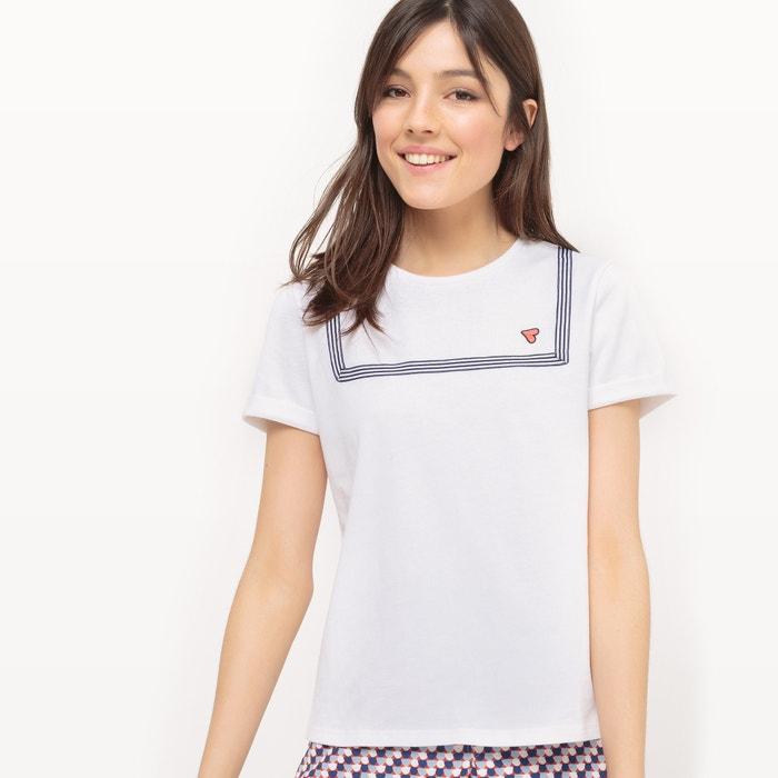 afbeelding Effen T-shirt met ronde hals MADEMOISELLE R