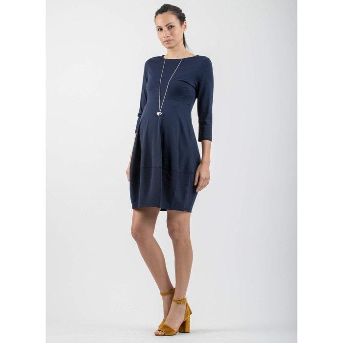 346f806269b1ce Robe de grossesse avec jupe ballon bleu Attesa | La Redoute