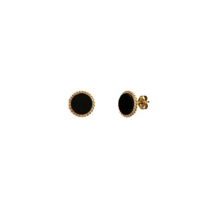 Boucles d'oreilles puces dorées new onyx lady noir Caroline Najman   La Redoute Wiki Sortie Jeu Meilleur Magasin Pour Obtenir 1IZVif2Akg