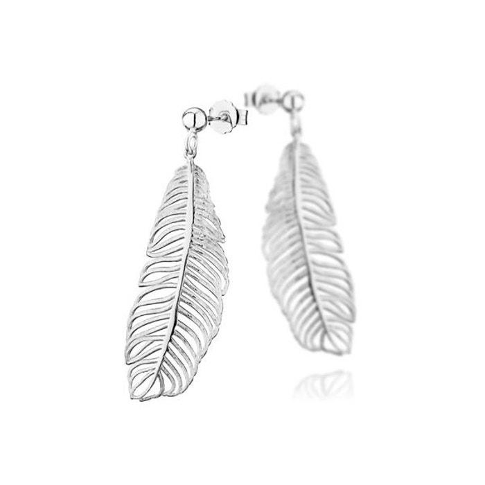 Boucles d'oreilles percées plume en argent 925 passivé, 4g argent Canyon | La Redoute