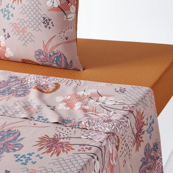 drap plat percale de coton chinese flower imprim. Black Bedroom Furniture Sets. Home Design Ideas