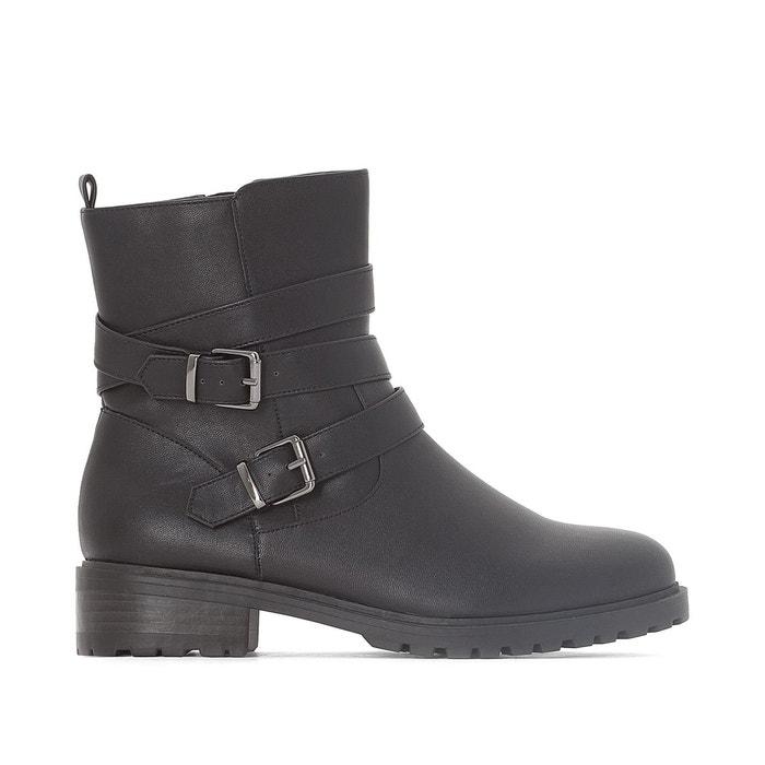 Boots motardes noir La Redoute Collections