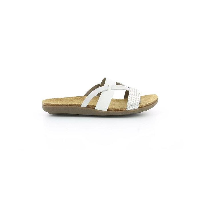 Sandale cuir femme atila blanc optical Kickers Vente Le Plus Grand Fournisseur Vente Bas Frais D'expédition 1ZrcwmP