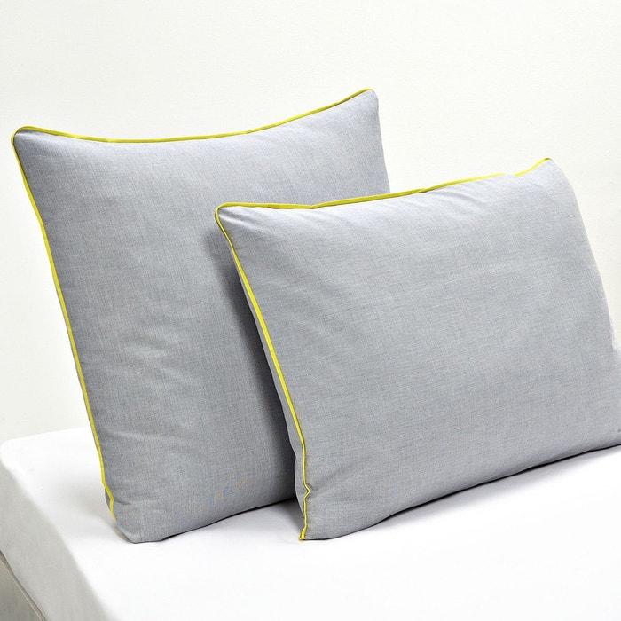 taie d 39 oreiller imprim effet chambray trame la redoute. Black Bedroom Furniture Sets. Home Design Ideas