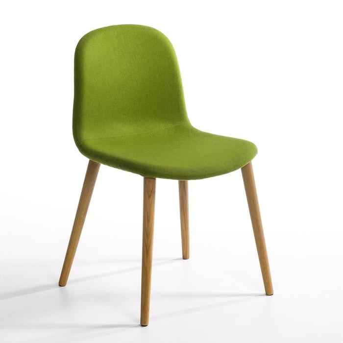 Chaise flanelle kirty vert am pm en solde la redoute for Chaise en solde