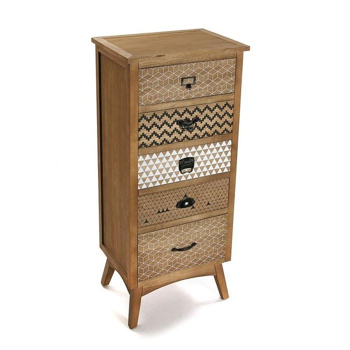 chiffonnier en pin 5 tiroirs l109cm graft bois naturel pier import la redoute. Black Bedroom Furniture Sets. Home Design Ideas