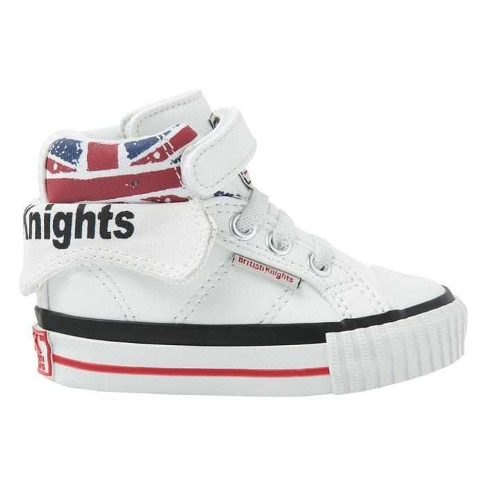 Roco petites filles baskets montante  blanc/blanc casse/fleur rose British Knights  La Redoute