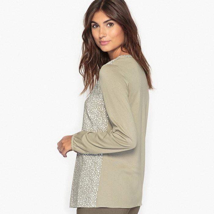 afbeelding Soepele blouse in twee stoffen ANNE WEYBURN