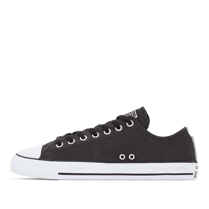 ... Baskets ctas ox cuir noir Converse ...