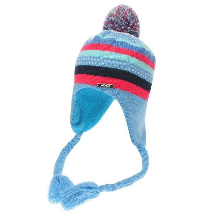 505496778237 Chapeau de ski bonnet doublure en polaire blue fushia Nevica   La Redoute