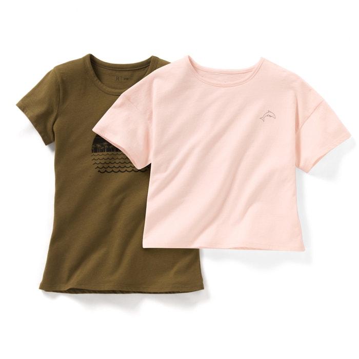 afbeelding T-shirt met korte mouwen (set van 2) La Redoute Collections