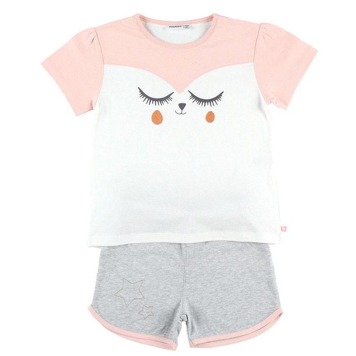 74e541ca1bedb Pyjama 2 pièces en jersey gris chiné Noukie s