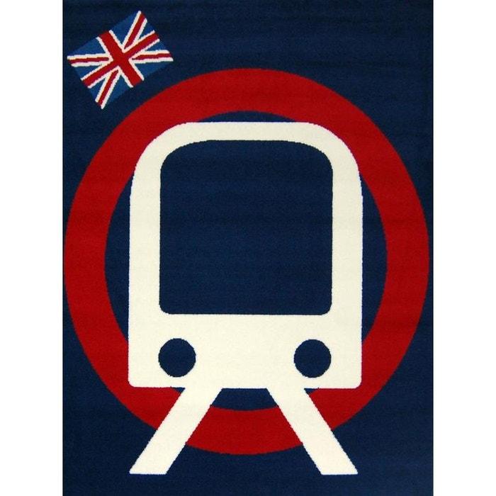 Tapis union jack métro bleu marine Natacha B | La Redoute