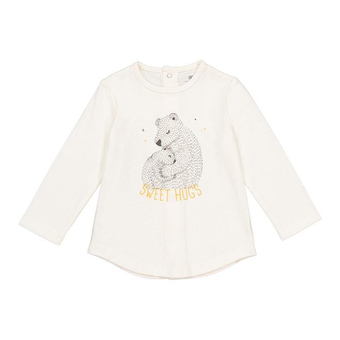 Camisola de mangas compridas, algodão bio, 0 mês - 2 anos  La Redoute Collections image 0