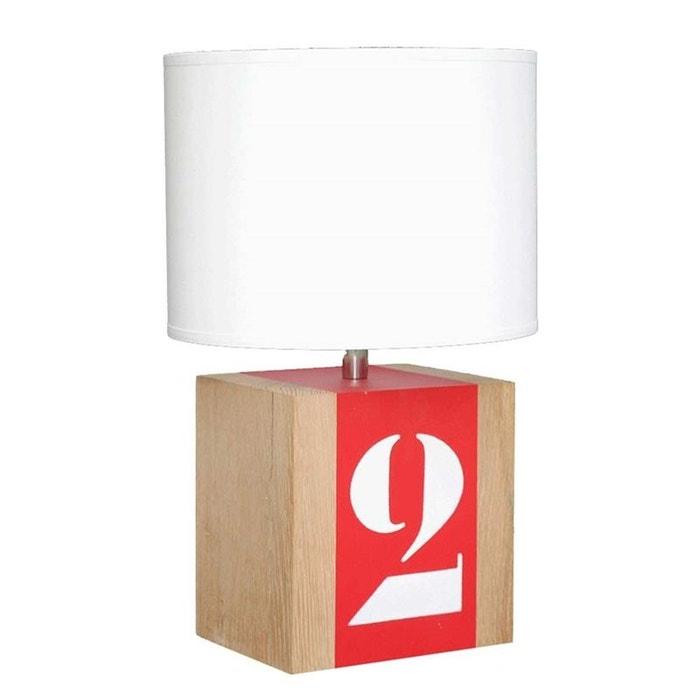 lampe de chevet en bois brick s l34 la redoute. Black Bedroom Furniture Sets. Home Design Ideas