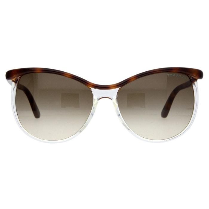 7279a8afca Lunettes de soleil ft9307-5956f noir marron Tom Ford | La Redoute