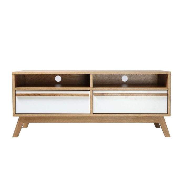Meuble tv design scandinave helia blanc miliboo la redoute for Avis client meubles concept
