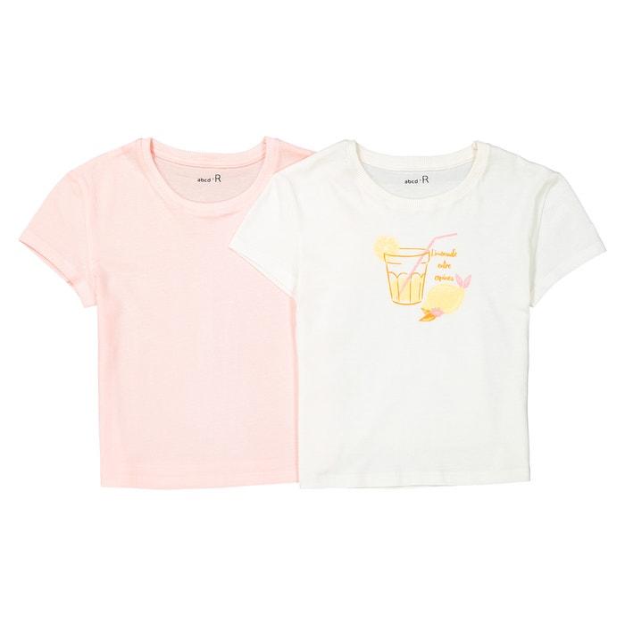 Confezione da 2 t-shirt fantasia da 3 a 12 anni  La Redoute Collections image 0