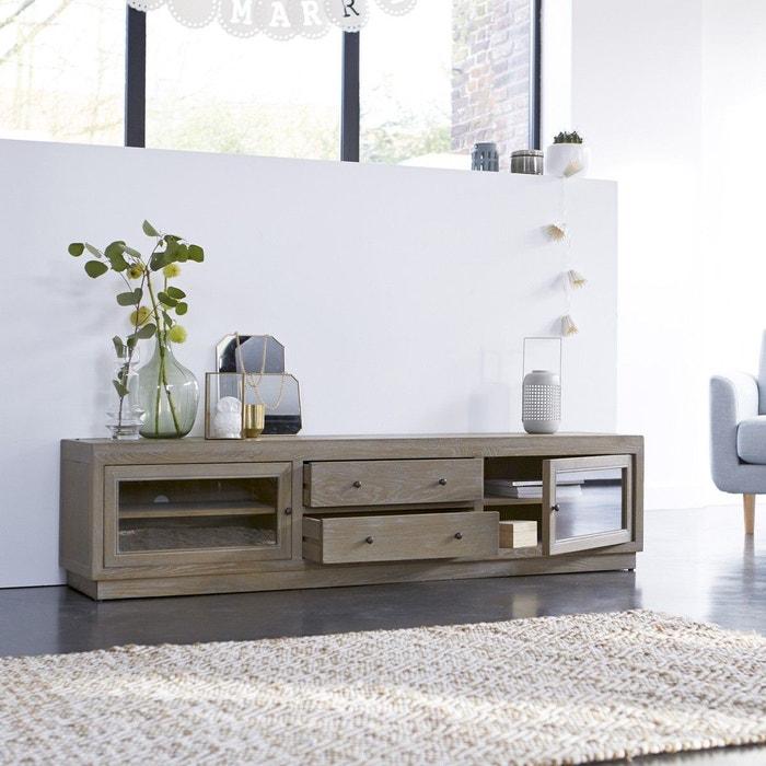 Meuble tv en bois de chêne 170 pablo couleur unique Tikamoon | La ...