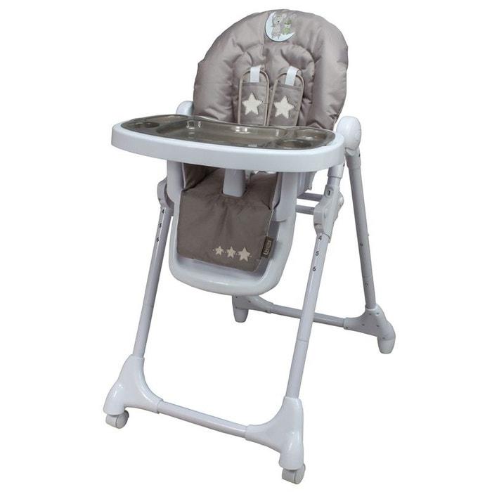 chaise haute b 233 b 233 t 233 lescopique lune c 226 line marron looping la redoute