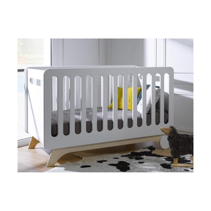 lit b b volutif bonheur bouleau barreaux et kit de conversion 70x140 blanc chambrekids la. Black Bedroom Furniture Sets. Home Design Ideas