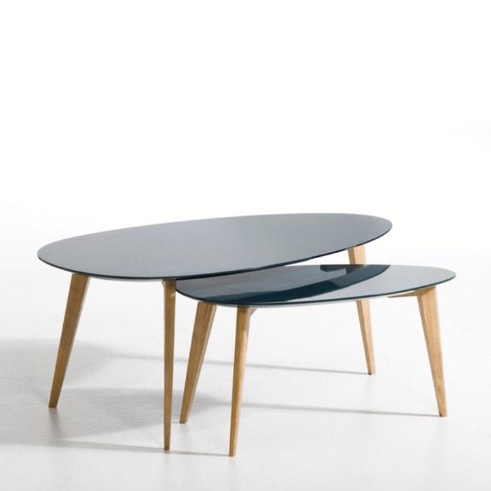Flashback lacquered hevea wood coffee table length 100cm - La redoute table de nuit ...