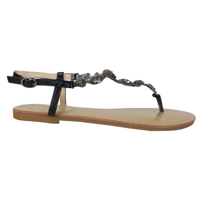 Sandales sa10 noir Kebello