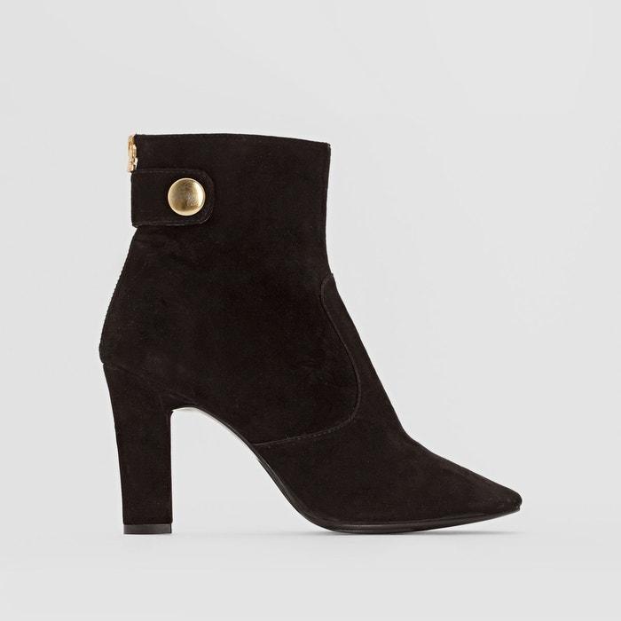 Boots en cuir à talon ha519   noir Cafenoir   La Redoute