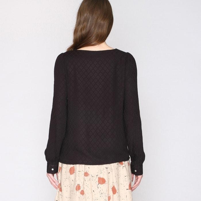 Blusa geom 233;trico PEPALOVES larga manga estampado ExfxAnd